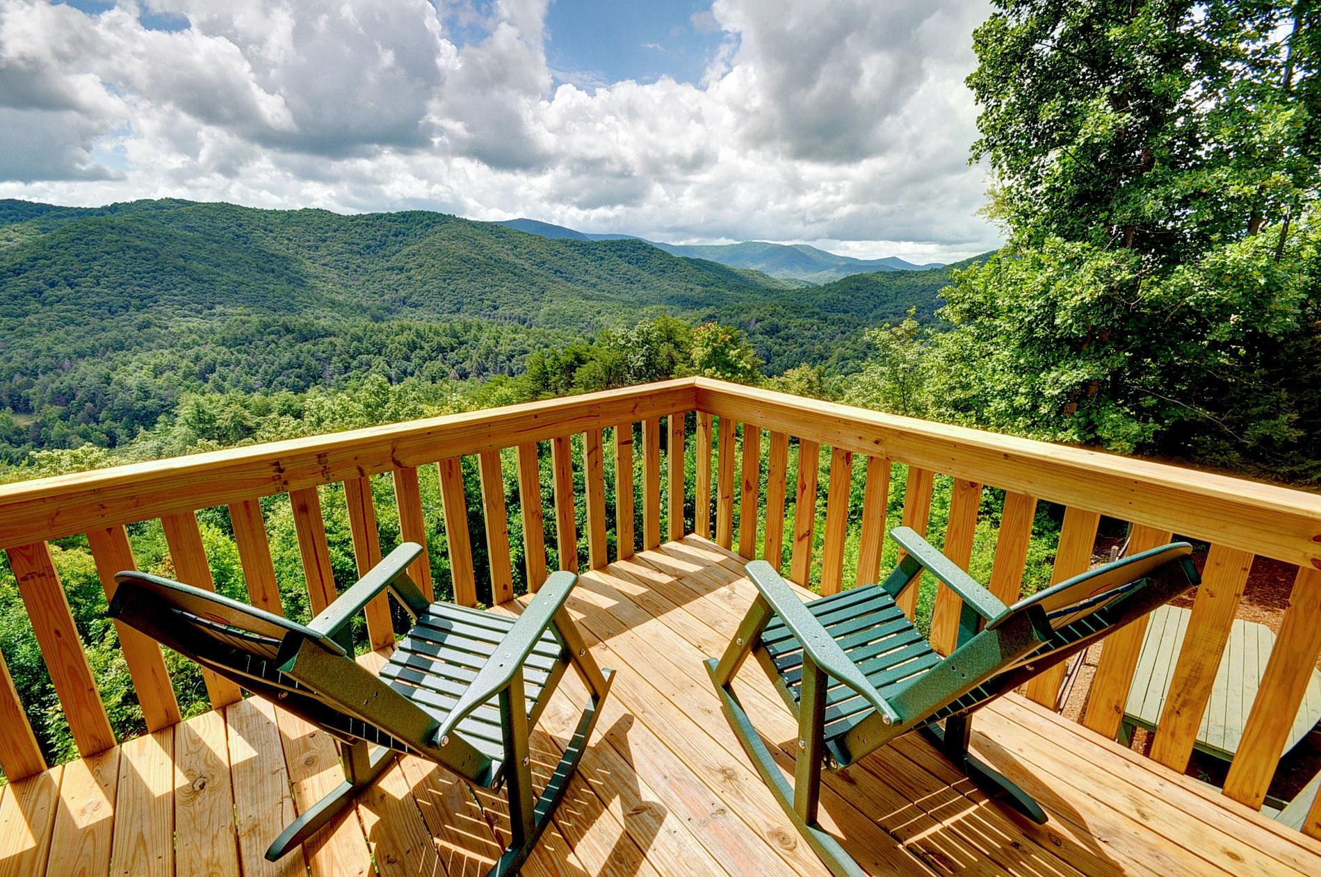 Deck Amp Porch Tour Above The Clouds Cabin Blue Ridge Ga
